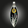 FORMschmuck-Silberanhänger mit Blumenmotiv
