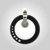 FORMschmuck-Silberanhänger mit Zirkonia Kreis schwarz