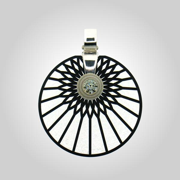 "FORMschmuck-Silber Anhänger Kreis Modell ""Sonne"""