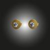 Formschmuck-Ohrstecker Silber vergoldet mit Zirkonia weiss