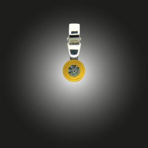 Silber Anhänger Grundelement mit Zirkonia weiß teilvergoldet