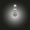 Silber Anhänger Grundelement mit Zirkonia weiß