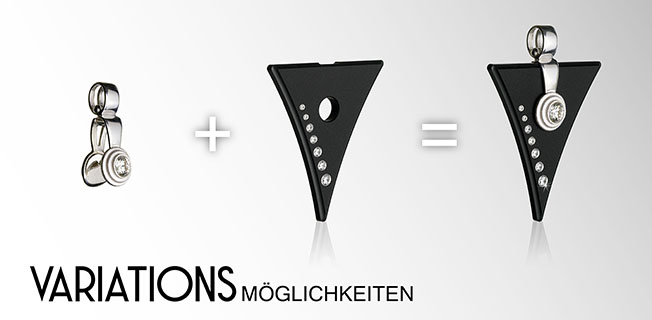 FORMschmuck-Silber Anhänger Variationsmöglichkeiten