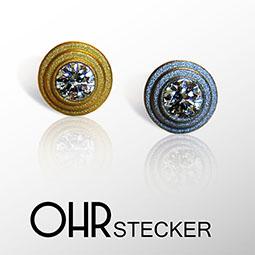 FORMschmuck-Ohrstecker Silber vergoldet oder rhodiniert