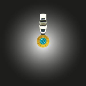 Silberanhänger Grundelement Zirkonia fancy mint teilvergoldet
