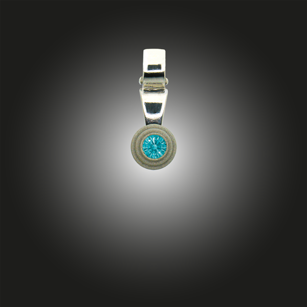 Silberanhänger Grundelement Zirkonia fancy mint