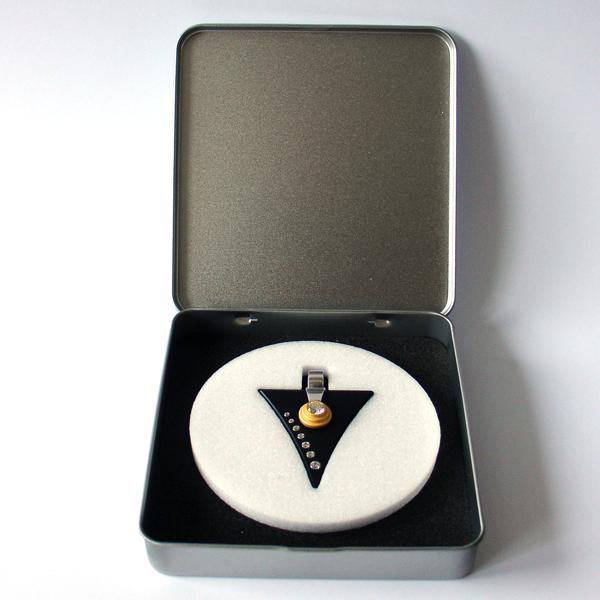 FORMschmuck-Silber Anhänger Dreieck in Geschenkbox