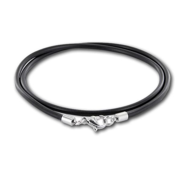 Formschmuck-Anhänger Silber Kautschukband schwarz