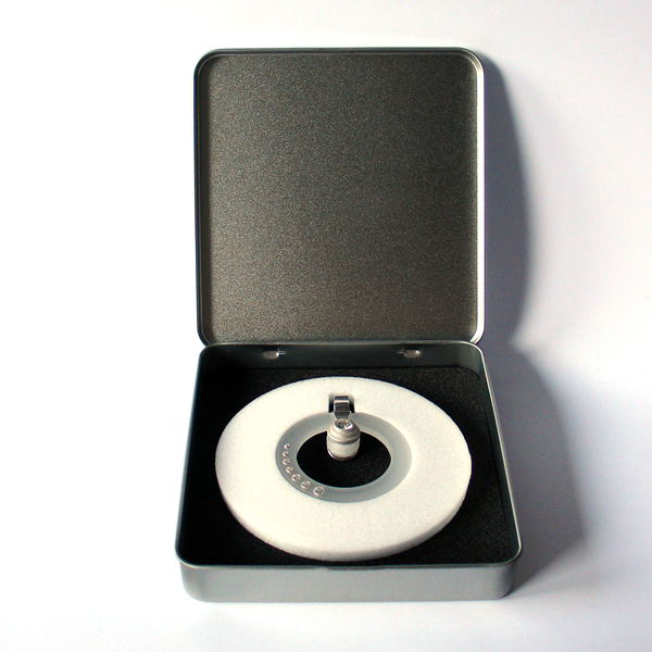 FORMschmuck-Anhänger Silber Kreis leer in Geschenkbox