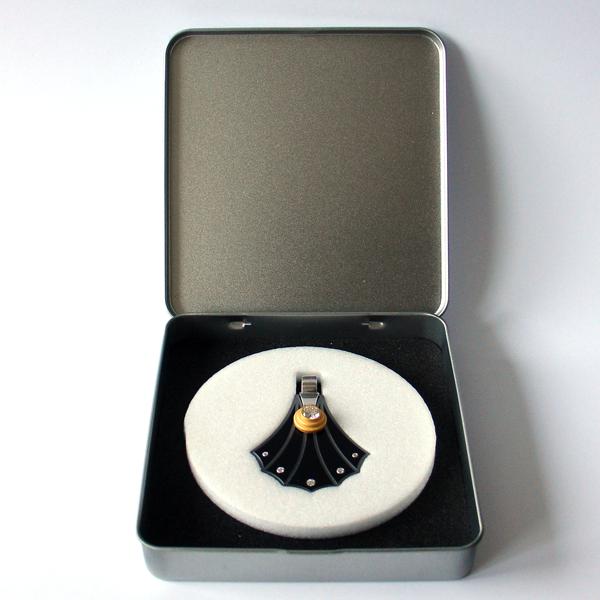 FORMschmuck-Silber Anhänger Muschel Form in Geschenkbox