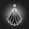 Formschmuck-Kette mit Silber Anhänger Damen Muschel mit Zirkonia