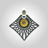 Formschmuck-Kette mit Silberanhänger groß Motiv Sonne