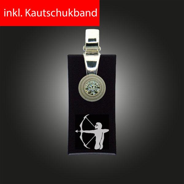 FORMschmuck-Silber Anhänger Sternzeichen Schütze Rechteck