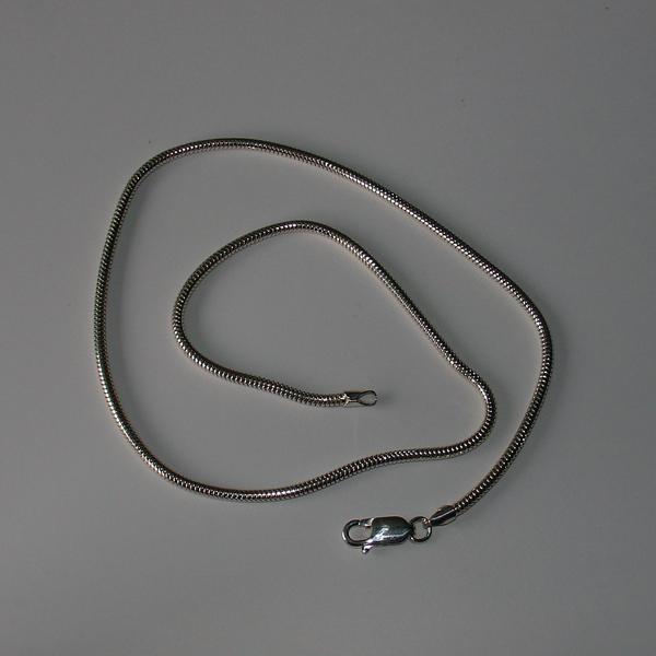 FORMschmuck-Schlangenkette Silber mit Karabiner
