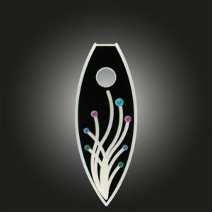 Variante Blumenmotiv schwarz bunt