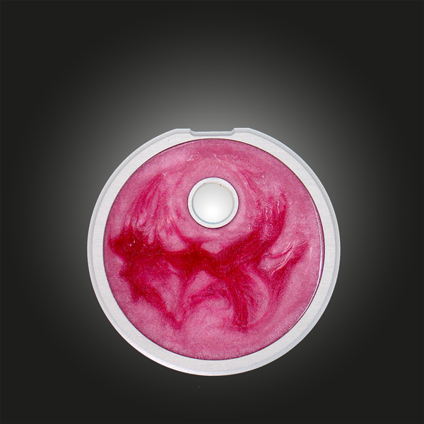 Variante Kreis Unikat silber rot