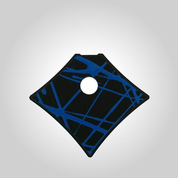 Anhänger groß Unikat schwarz blau