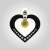 Formschmuck-Silber Anhänger Herzform Valentinstag