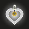 FORMschmuck-Anhänger Silber Damen Herz mit Zirkonia