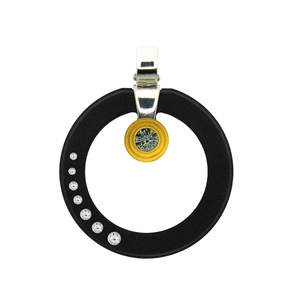 FORMschmuck-Kette mit Silberanhänger Damen Kreis leer