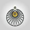 FORMschmuck-Kette mit Silberanhänger rund groß Muster