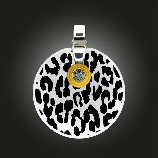FORMschmuck-Silberanhänger Kreis groß Leoparden Muster