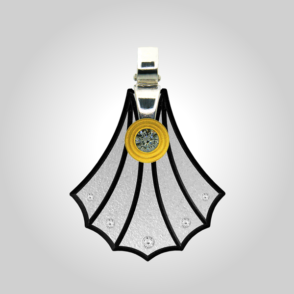 FORMschmuck-Kette mit Silber Anhänger Damen groß Muschel Form