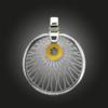 Formschmuck-Kette mit Silber Anhänger Damen Kreis Motiv Sonne aus Silber