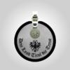 Formschmuck-Kette mit Silberanhänger rund Tiroler Adler Land Tirol