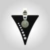 Formschmuck-Kette mit Anhänger Silber Dreieck mit Zirkonia