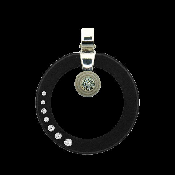 FORMschmuck-Kette mit Silberanhänger Kreis mit Zirkonia