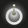 FORMschmuck-Kette mit Silberanhänger groß transparent weiß mit Zirkomia