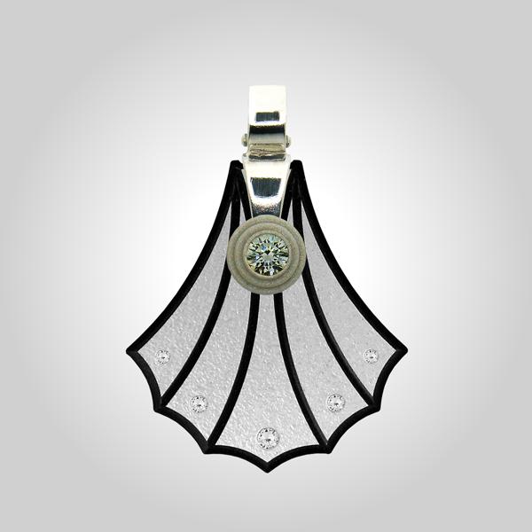 FORMschmuck-Kette mit Silberanhänger groß Muschel Form