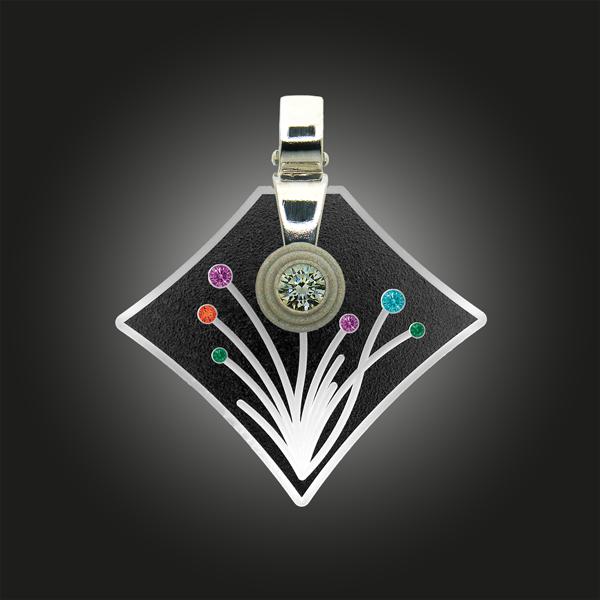 FORMschmuck-Silber Anhänger Blumenmotiv