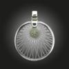 Formschmuck-Silberanhänger Damen Kreis Motiv Sonne aus Silber