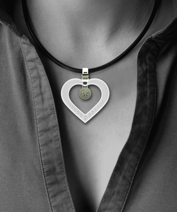 FORMschmuck-Kette mit Silberanhänger Damen Herz mit Zirkonia