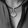 FORMschmuck-Silberanhänger groß Muschel Form
