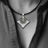 FORMschmuck-Silberanhänger mit Kautschukband groß Strahlen