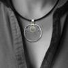 Formschmuck-Silber Anhänger Damen Kreis Motiv Sonne aus Silber