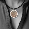 FORMschmuck-Silberanhänger rund Damen Unikat mit Kautschukband