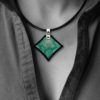 FORMschmuck-Silberanhänger Damen Unikat mit Kautschukband