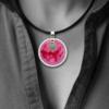 FORMschmuck-Silberanhänger Kreis Damen Unikat mit Kautschukband
