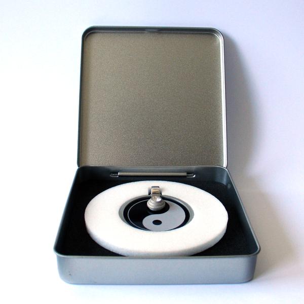 FORMschmuck-Silberanhänger groß rund Yin Yang mit Geschenkbox