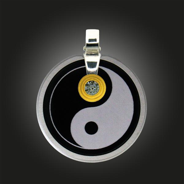 """FORMschmuck-Silber Anhänger Damen Kreis """"Yin Yang"""""""