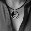 "FORMschmuck-Silber Anhänger groß rund ""Yin Yang"""