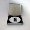 FORMschmuck-Silberanhänger rechteckig mit Hundepfote mit Geschenkbox