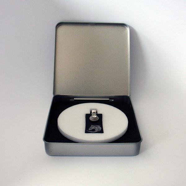 FORMschmuck-Kette mit Silber Anhänger rechteckig mit Pferdekopf in Geschenkbox
