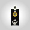 FORMschmuck-Kette mit Silberanhänger groß rechteckig mit Hundepfote