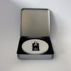 FORMschmuck-Silber Anhänger mit Hanfblatt in Geschenkbox