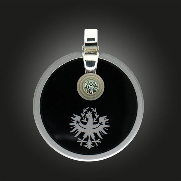 FORMschmuck-Kette mit Silber Anhänger Tiroler Adler